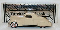 Durham Classics 1/43 Scale White Metal - 1938 Lincoln Zephyr 2 Dr Coupe - Cream