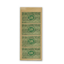 1862 Ten Cent Sheet State Capital Bank, Concord, NH AU - SKU #88503
