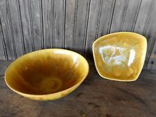Arkayo Mid Century Modern Pottery 2 for decor green drip rare Used Collectible