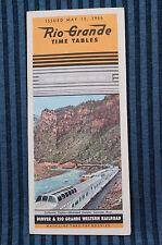Rio Grande - Time Table - Oct. 25, 1964
