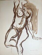 Bogratchew Claude encre et aquarelle sur papier signée art abstrait Don Juan