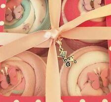 Nappy Cake Baby Sock Bodysuit Cupcakes Baby Shower Gift Newborn Girl