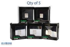 Qty 5 Crabtree Flat Plate 1G BT Slave Polished Chrome 7783/PC/WH (B11-34)