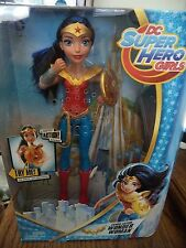 DC SUPER HERO GIRLS TALKING POWER ACTION WONDER WOMAN FIGURE W/ LIGHTS DMM28 NU*