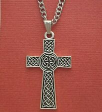 Celtic Cross Necklace pendant and Stainless steel chain Celts Irish gift shop