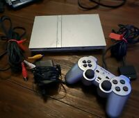 Sony PlayStation 2 PS2 Slim Silver Console Only SCPH79001 As-Is For Parts *READ*
