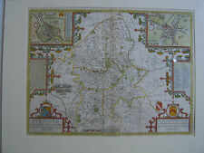 Staffordshire: antique map by John Speed, 1676