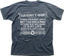 MAGLIETTA CREED FULL METAL JACKET parodia divertente questa è la mia RIFLE grigio maglietta tc9490