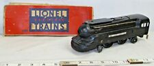 LIONEL LINES STREAMLINE BLACK LOCOMOTIVE ENGINE 2x4x2 #1688 POST WAR WITH BOX