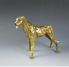 Muller-Volkstedt Dresden Irish Wolfhound Scottish Deerhound Porcelain Figurine