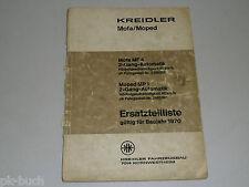 Ersatzteilliste Teileliste Kreidler Mofa Moped MF 4 MP 1 MF4 MP1, Stand 02/1970