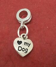 Love my Dog Charm Fits Bracelet New great for animal lover European charm