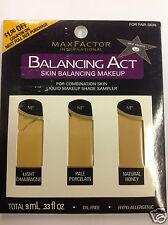 Max Factor Balancing Act Liquid Makeup Shade Sampler FOR FAIR SKIN.