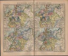 Landkarte map 1901: HISTORISCHE KARTEN VON DEUTSCHLAND. II. Reformation