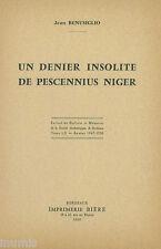 * J. Benusiglio, Un denier insolite de Pescennius Niger, Bordeaux, 1960 - TAP