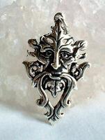 Green Man 925 Silver Pendant Celtic Tree Spirit Pagan God Wicca Witch Reiki