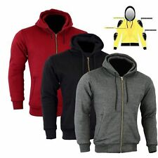 Motorbike Made with Kevlar  Mens Hoodie Hood Full Protective Paded Armour Lined