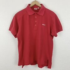 Vintage Vtg 80's Ellesse Polo Shirt Size Medium Tennis Red Italian