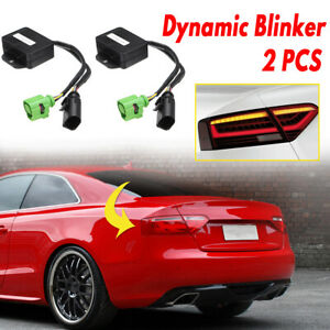 2 x SeDynamic Turn Signal Indicator LED Taillight Module For Audi A5 8T 07-18