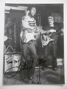 Luther Allison signed 7x10 inch photo autograph