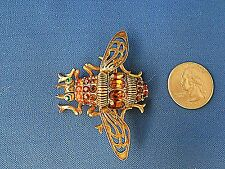 JOAN RIVERS Colorful Bee Pin Brooch