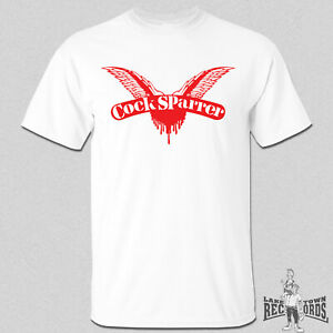 COCK SPARRER - LOGO T-Shirt White S-XXL Skinhead Oi! Punk Last Resort 4 Skins
