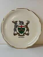 Ontario Decorative Souvenir Plate Decorated in Canada 22K Gold Stamped