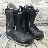 Burton Ruler Imprint 2 Snowboard Boots Mens 10 Black Speed-Zone Speed Lacing NEW