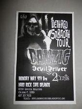 Danzig Deth Red Sabaoth Hard Rock Cafe Original Handbill Flier Flyer