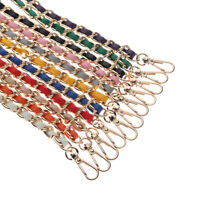 PU Leather Metal Replacement Chain for Shoulder Bag Handbag Strap Cross Body