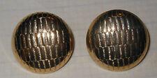 Orecchini vintage a clip in metallo dorato  cm. 3,3 Earrings V3