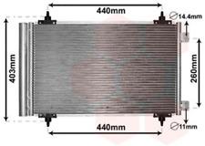 Kondensator, Klimaanlage für Klimaanlage VAN WEZEL 09005263