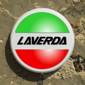 Laverda Moto LED Illuminé Lumière Signe Gaz Huile Garage Automobilia Italie