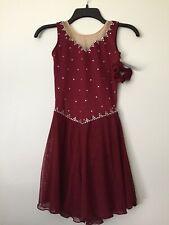 Icings Nwt Burgundy Ice Roller Dance Skating Dress
