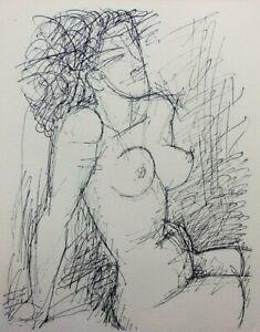 Marcel GROMAIRE : Modèle à belle poitrine - GRAVURE en noir #1952 + Certificat
