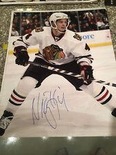 Niklas Hjalmarsson signed auto 16x20 photo Chicago Blackhawks