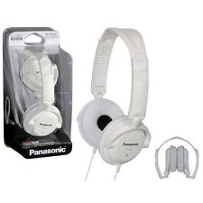 Panasonic RP-DJS200-W On-Ear Lightwieght DJ Street Style Headphones RP-DJS200