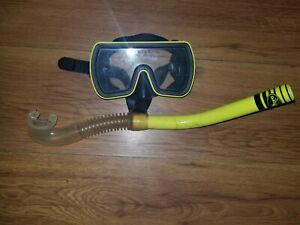 Dacor Vista Yellow Mask And Snorkel Combo Frameless