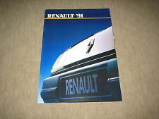 Renault 5, 19, 21, 25, Espace, Alpine Prospekt Brochure 10/1990, 36 Seiten
