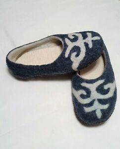 NEW 100%Handmade Pure sheep wool felted slippers for women. High quality. US7.5