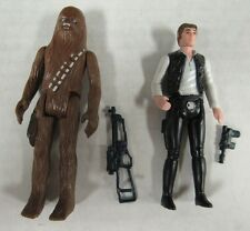 Vintage 1977 Star Wars Han Solo & Chewbacca Complete R419