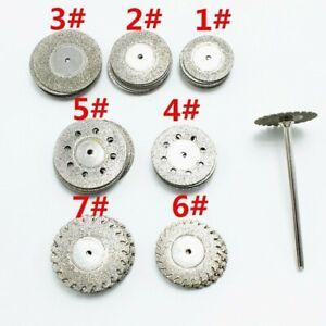 10pcs Dental Lab Diamond Disc Double Side Grit Cutting Disk Tool Diameter 22mm