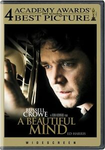 Brand New DVD A Beautiful Mind (Widescreen) 2001 Russell Crowe Jennifer Connelly