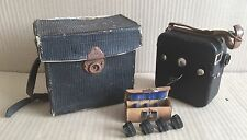 Vintage Pathescope Cine Camera - With Hard Case & 4x Vintage Pathe Paris Lens