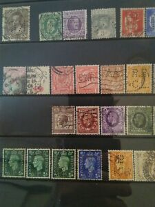 GB Edward to QEII PERFIN collection $10 start!!