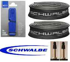 2 x Schwalbe 700x45c PV CAMERE D'ARIA & 3 Schwalbe Pneumatico Leve consegna cingolati