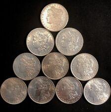 Pristine Lot of 10 Different Pre-1921 Morgan Silver Dollars, CH/Gem High Grade!