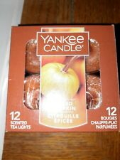 Yankee Candle Box of 12 Scented Tealights, Spiced Pumpkin SELLING  SEPERATE