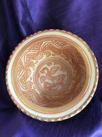 Antique  Hispano-Moresque lustre glazed bowl, the centre decorated with a bird.