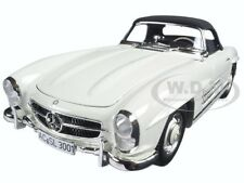 1957 MERCEDES 300 SL W198 WHITE LTD 504pc 1/18 DIECAST BY MINICHAMPS 180039034